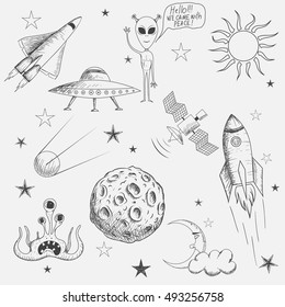 Rocket Drawing Images Stock Photos Vectors Shutterstock