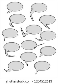 Collection of the speak bubbles isolated on white background.