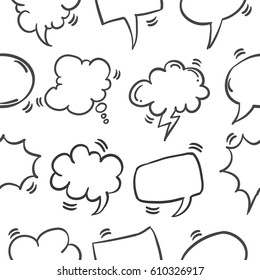 Collection of speech bubble pattern style