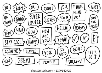 Collection of speech bubbles vector