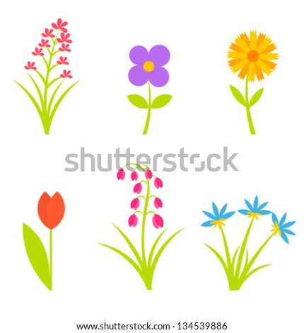 Collection spring flowers vector illustration stock vector royalty collection of spring flowers vector illustration mightylinksfo