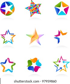 collection of star icons, vector