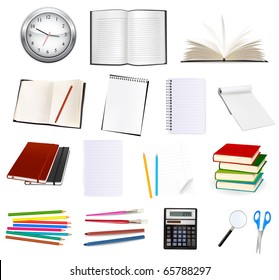 Collection of stationery for the office. Vector illustration