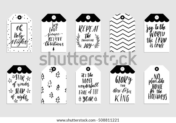 photograph regarding Printable Christmas Tags Black and White named Variety Tasteful Black White Gold Fresh Inventory Vector