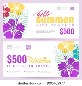 Luau invitation images stock photos vectors shutterstock collection of summer gift vouchers gift certificate for a holiday vector flat illustration yadclub Gallery