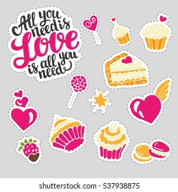 Collection of Sweetest day and Valentine's stickers