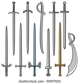 collection of swords and sabers