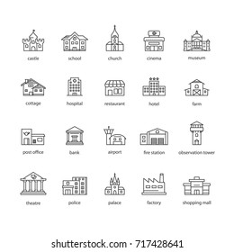 collection of touristic icons