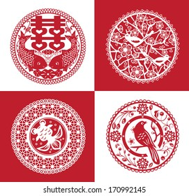 Collection of traditional handmade paper cutting