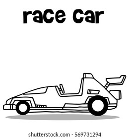 Collection Transport Of Race Car Vector Illustration
