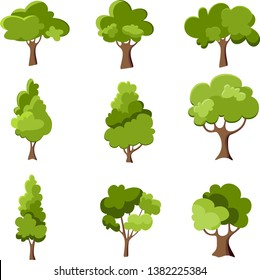 Collection of trees illustrations. Can be used to illustrate any nature lifestyle topic.
