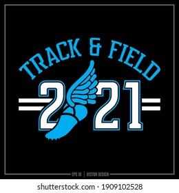 Collection of two white and blue Track and Field insignia, Track Team, Sports Design, Team Logo, Track, Runner