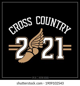 Collection of two white and gold Cross Country insignia, Cross Country team, Sports Design, Team Logo, Cross Country
