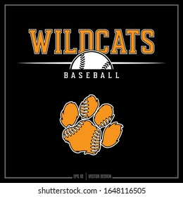 Collection of two white and gold wildcats softball sports insignias, Sports logo, Team Design, Softball