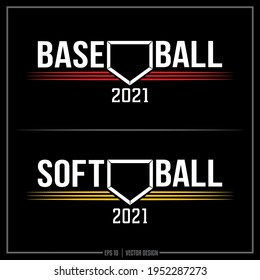 Collection of two white, yellow and red baseball insignias, Softball, Baseball, Team logo, Sports Design, Base