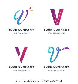 Collection of V Logo Templates