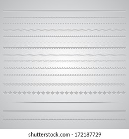 Collection of various decorative page dividers