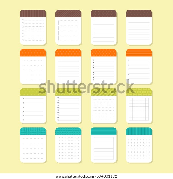 photo relating to Note Paper Template titled Selection Distinctive Be aware Papers Template Notepad Inventory Vector