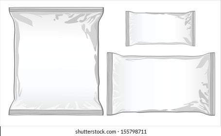 collection of various paper bags on white background.
