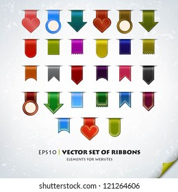 Collection of various ribbons