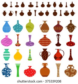collection of vases for your design
