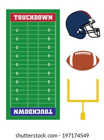 A collection of vector American football elements and graphics