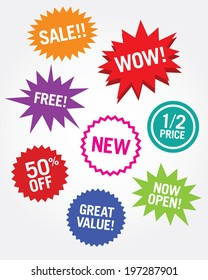 A collection of vector attention grabbers for retail and commerce