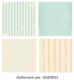 Collection of vector backgrounds in retro style
