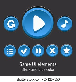 Collection of vector buttons for mobile games