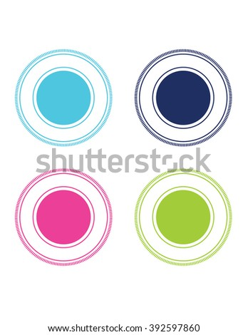 Collection Vector Circular Frames Attention Grabbers Stock