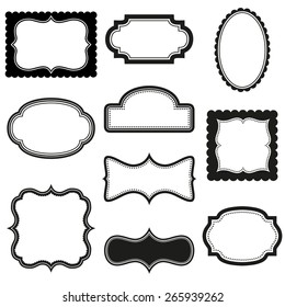 Collection of vector decorative frames