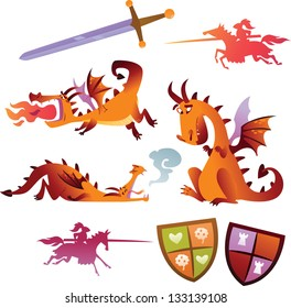 Collection of Vector Dragons