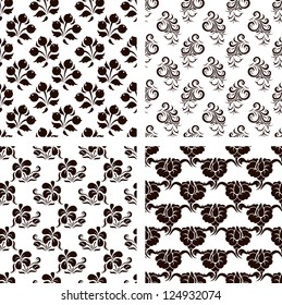 Collection of vector floral backgrounds