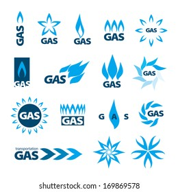 collection of vector icons of natural gas