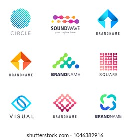 Collection of vector logos for business.