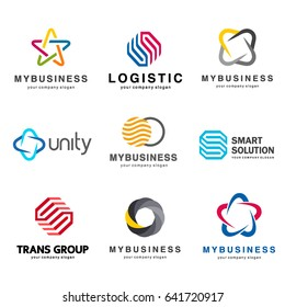 Collection of vector logos for your business.