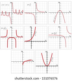 Collection of Vector mathematical function graph