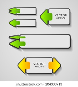 collection of vector modern arrows, design element