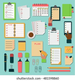 Collection of vector notebooks agenda business notes