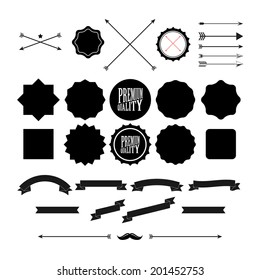 Collection vector retro vintage design - Hipster lables, badges and vector design elements