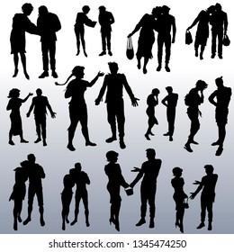 人物 シルエット 老人のイラスト素材画像ベクター画像 Shutterstock