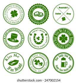 collection of vector st. patrick's logos