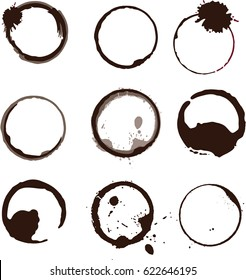 Collection vector stains  for grunge design