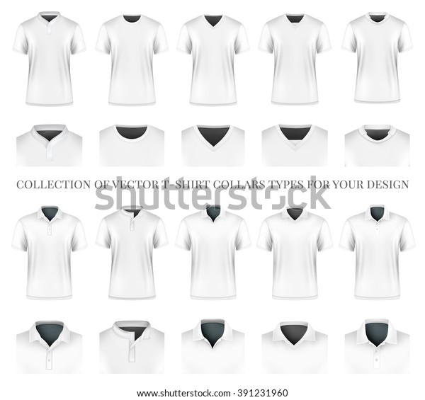 Collection Vector Tshirt Collars Types Your Stock Vector Royalty Free 391231960