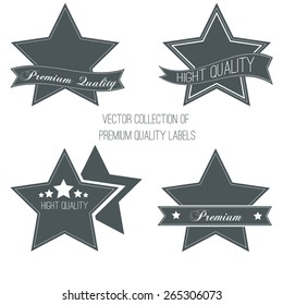 Collection of vintage labels and ribbons. Vector design elements