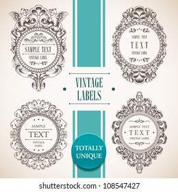 Collection of vintage labels. Vector