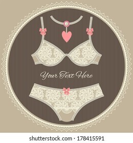 Collection of vintage lingerie lace.