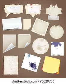 Collection of vintage paper sheets