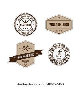 Collection of vintage sticker Badge Labels Sticker vector image