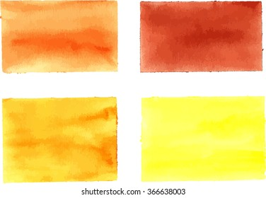 Collection of watercolor rectangles for design